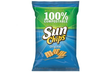 L'emballage des SunChips 100% biodégradable.