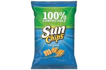 L'emballage des SunChips 100% biodégradable.