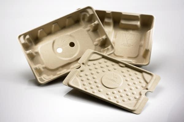Dell teste des emballages à base de champignons.