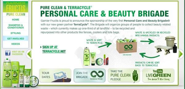 Partenariat exclusif entre L'Oréal Garnier et TerraCycle® pour une opération de collecte des emballages.