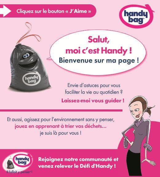 Eco-Emballages et Handy Bag expliquent sur Facebook les gestes du tri.