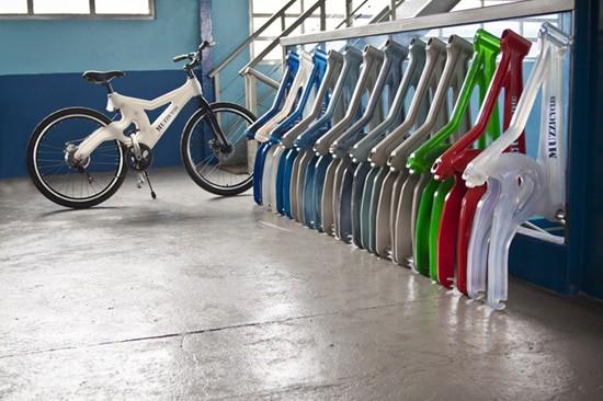 200 bouteilles plastiques = un cadre de vélo.