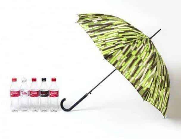 Coca-Cola innove avec son parapluie Plantbottle.