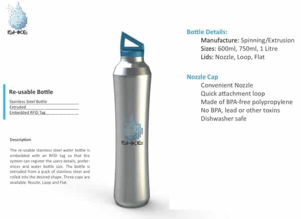 Ishke, une future bouteille d'eau réutilisable grâce à la technologie de radio-identification