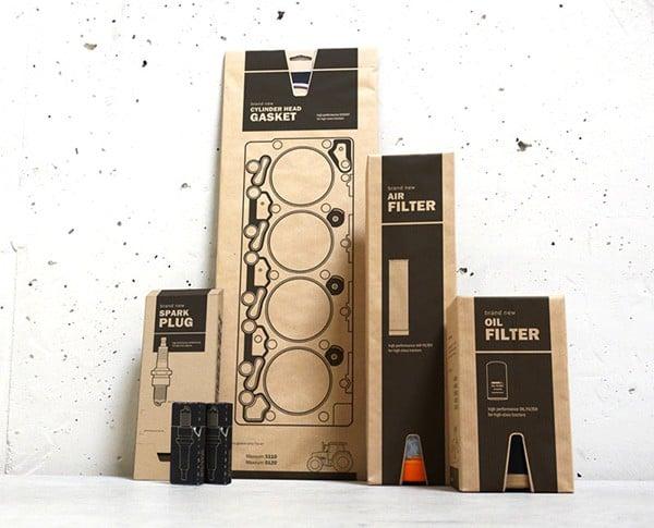 Une série d'emballages pratiques et écologiques pour pièces automobiles