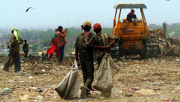 Le travail des recycleurs de Dehli