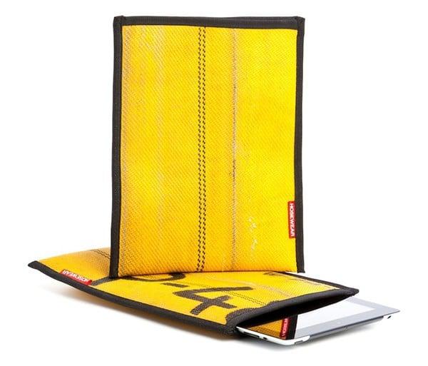 Des tuyaux d'incendie transformés en housses de protection pour iPad