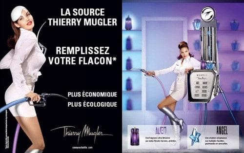Thierry Mugler valorise avec audace le développement responsable en proposant des flacons vides