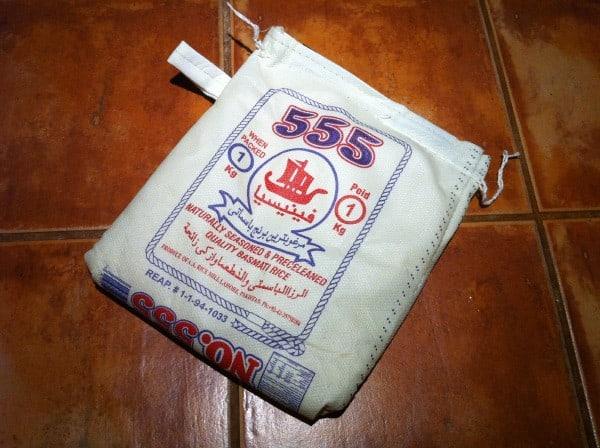 Un sac de riz réutilisable bien pensé