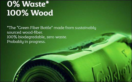 La future bouteille de bière Carlsberg : recyclable et biodégradable