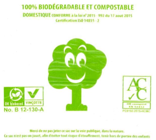 Sacs biosourcés et compostables : de fausses certifications Vinçotte sur le marché français