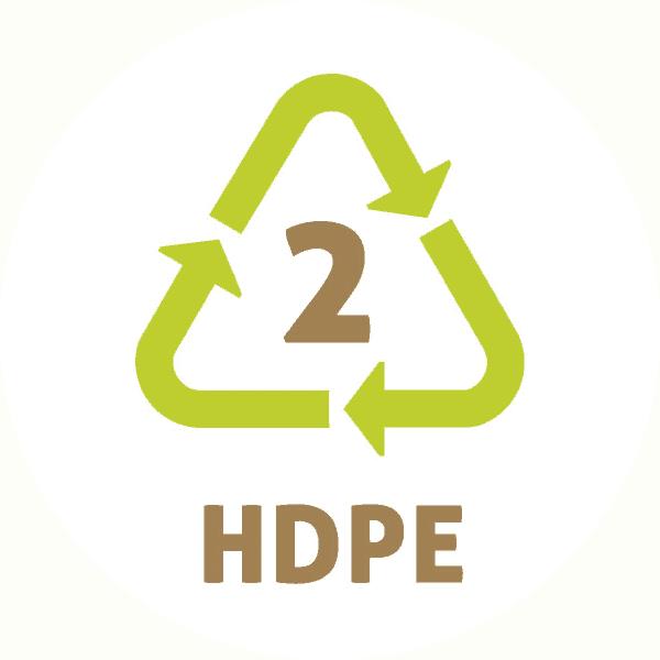 Le symbole du recyclage 2 plastique – HDPE ou PEHD – PolyEthylène Haute Densité