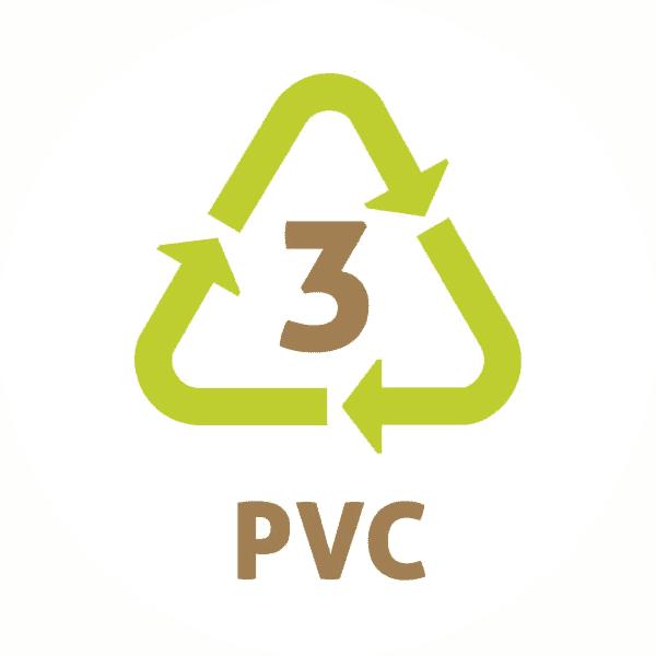 Le symbole du recyclage 3 plastique – PVC – PolyChlorure de Vinyle