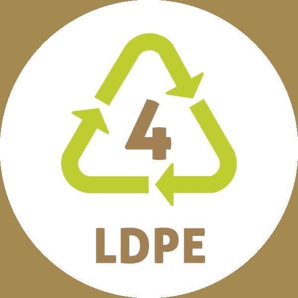 Le symbole du recyclage 4 plastique – LDPE ou PELD – PolyEthylène Basse Densité