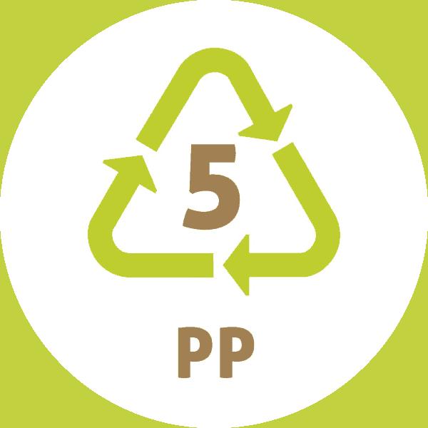 Le symbole du recyclage 5 plastique – PP -PolyPropylène