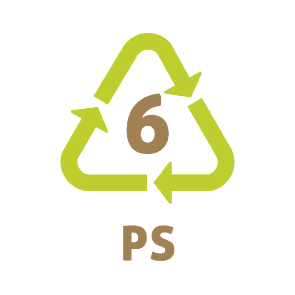 Le symbole du recyclage 6 plastique – PS – PolyStyrène Expansé